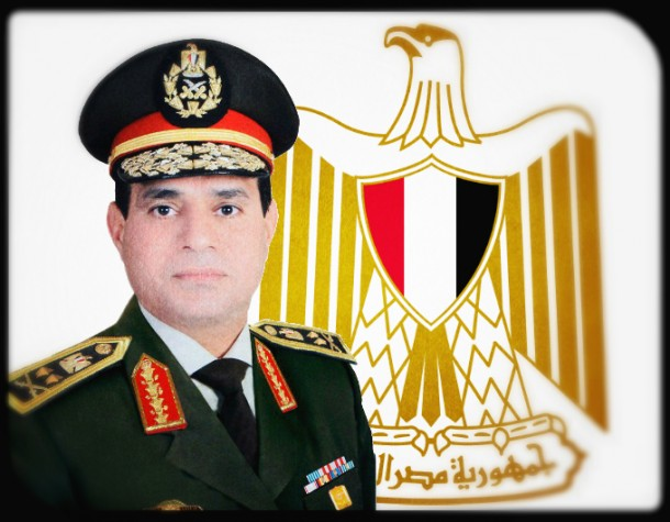 Egypt's Sixth President, General Abdel Fatah El Sisi. Since assuming power in 2013, he has led a brutal crackdown on Muslim Brotherhood supporters and sympathizers in Egypt.