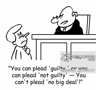 'You can plead 'guilty,' or you can plead 'not guilty' - You can't plead 'no big deal'!'